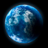 Planet Earth. Glowing planet Earth over black background Royalty Free Stock Photography