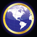 Planet Earth. Vector illustration of the planet earth Stock Photos