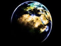 Planet Earth. Made from a flat map Royalty Free Stock Images