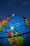 Planet earth. In a blue sky Royalty Free Stock Image