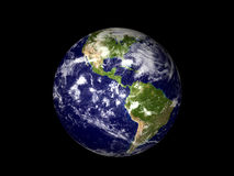 Planet earth. In the space, 3d rendering Stock Photography