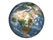 Planet Earth. 3D illustration of planet Earth on white background Stock Photo
