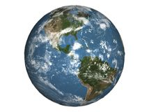 Planet earth. Isolate planet earth viewed from space Stock Photography