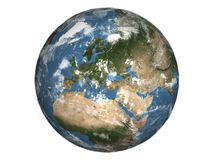 Planet Earth. 3d illustration of planet Earth isolated on white background Royalty Free Stock Photos