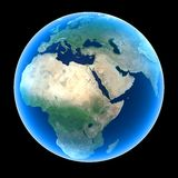 Planet Earth. Including Africa, Europe, and the Middle East vector illustration