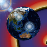 The planet earth Stock Image