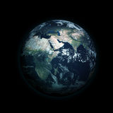 Planet Earth. A beautiful, yet basic and more cinema-like render of a life-filled planet called Earth Stock Images