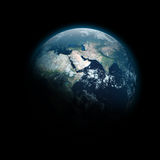 Planet Earth. A beautiful, more cinema-like 5000x5000 render of a life-filled planet called Earth Royalty Free Stock Image