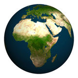 Planet earth. Africa, part of Europe and Asia. Royalty Free Stock Photo