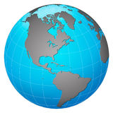 Planet earth – America centric Royalty Free Stock Images