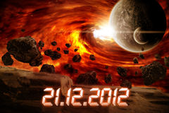 Planet Earth Apocalypse Royalty Free Stock Image