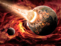 Planet Earth Apocalypse. Made with photoshop cs5 Stock Photos
