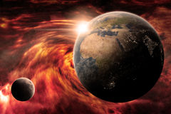 Planet Earth Apocalypse. Made with photoshop cs5 Royalty Free Stock Image