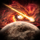 Planet Earth Apocalypse. Made with photoshop cs5 Royalty Free Stock Photos