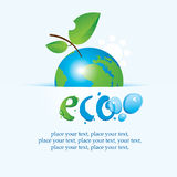 Planet Earth as an apple. Banner with the planet Earth as an apple on environmental issues Royalty Free Stock Photography