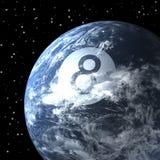 Planet earth as billiard ball, magic eight ball Royalty Free Stock Photo