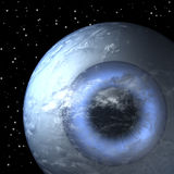 Planet earth as eye ball, close Stock Image