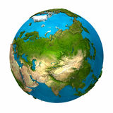 Planet Earth - Asia. Colorful globe with detailed and realistic surface, 3d render Stock Photo