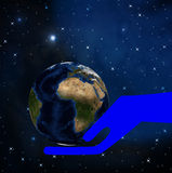 Planet earth on a background a star galaxy Stock Photography