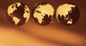 Planet earth background. World globe on abstract background Stock Photography