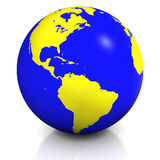 Planet earth balloon Royalty Free Stock Image