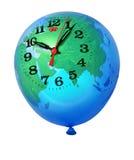 Planet Earth balloon clock Stock Photo
