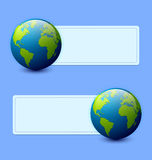 Planet Earth banners Royalty Free Stock Photography
