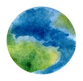 Planet Earth - beautiful hand-painted watercolor illustration vector illustration