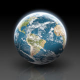 Planet earth on a black background vector illustration