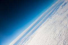 Planet earth the blue planet close up view from the space Stock Photos