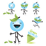 Planet earth cartoon character. Planet earth as a happy child, related with green world concept. Vector cartoon character series Royalty Free Stock Photo