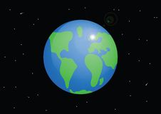 Planet Earth. Cartoon  Stock Image