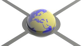 Planet Earth circled Royalty Free Stock Image