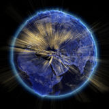 Planet earth city lights Stock Images