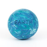 Planet earth, clay modeling. The earth made from clay royalty free stock images
