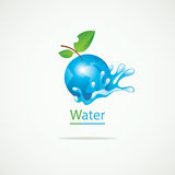 Planet Earth and clean water Royalty Free Stock Image