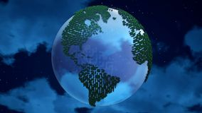 Planet Earth on the clouds background. Royalty Free Stock Photo