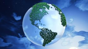 Planet Earth on the clouds background. Stock Photography