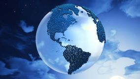 Planet Earth on the clouds background. Royalty Free Stock Photography