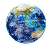 Planet Earth with Clouds Stock Image