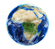 Planet Earth with Clouds Stock Photography