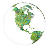 Planet Earth concept project sphere. White isolated Stock Images
