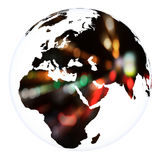 Planet Earth concept project sphere. White isolated Royalty Free Stock Photo