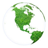 Planet Earth concept project sphere. White isolated Stock Photo