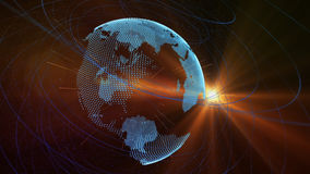 Planet earth and connections Royalty Free Stock Photo