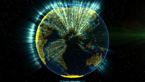 Planet earth and connections stock footage