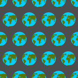 Planet Earth with continents and oceans seamless pattern. Stock Photography