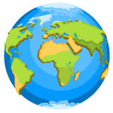 Planet Earth. With continents. Vector illustration Royalty Free Stock Photography