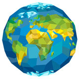 Planet Earth. With continents. Vector illustration Stock Photos
