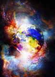 Planet Earth in cosmic space Cosmic Space background. Stock Photography